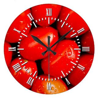 Fresh Tomatoes Large Clock