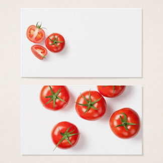 Fresh Tomatoes on White Business Card