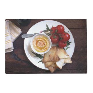 Fresh Tomatoes, Pita and Hummus Placemat Laminated Placemat