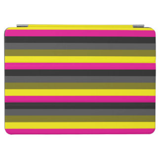 fresh trendy neon yellow pink back grey striped iPad air cover