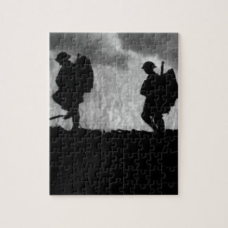 Fresh troops moving up to advanced_War image Jigsaw Puzzle