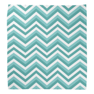Fresh Turquoise Aquatic chevron zigzag pattern Bandana