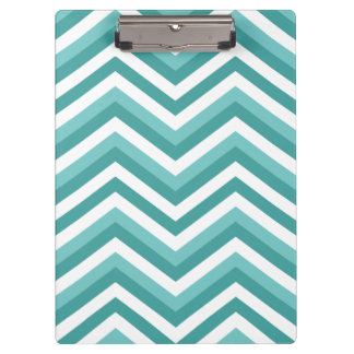 Fresh Turquoise Aquatic chevron zigzag pattern Clipboard