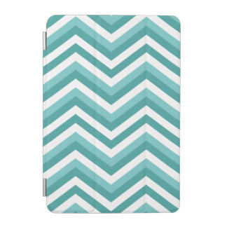 Fresh Turquoise Aquatic chevron zigzag pattern iPad Mini Cover