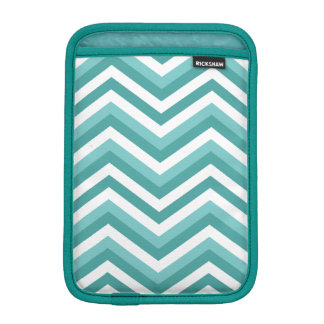 Fresh Turquoise Aquatic chevron zigzag pattern iPad Mini Sleeve
