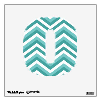 Fresh Turquoise Aquatic chevron zigzag pattern Wall Sticker