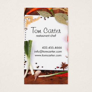 Fresh Vegetables Catering or Chef Kitchen Business Card