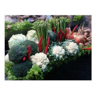 Fresh Vegetables Postcard