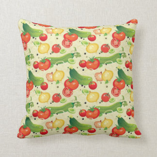 Fresh Vegetables Throw Pillow