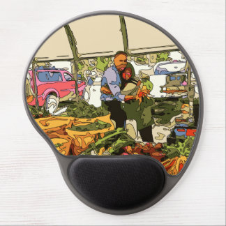 Fresh Veggies at the Farmers Market Gel Mouse Pad