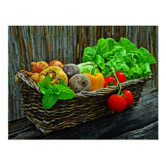 Fresh Veggies Postcard