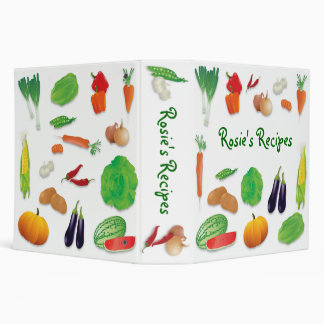 Fresh Veggies Recipe Binder - 2 inch