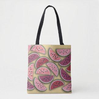 Fresh Vintage Watermelon Picnic Tote Bag
