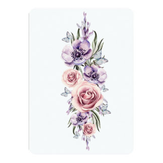 fresh watercolor florals card