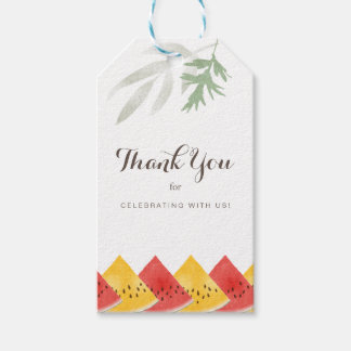 Fresh Watermelon Thank You Gift Tags
