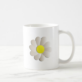 FRESH WHITE DAISY FLOWER, SPRING TIME FLOWER COFFEE MUG