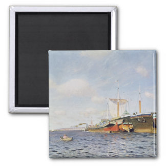 Fresh Wind on the Volga, 1895 Square Magnet