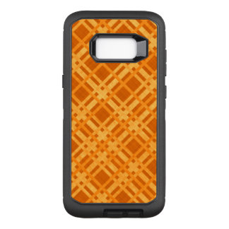 Fresh Yellow and Orange Plaid OtterBox Defender Samsung Galaxy S8+ Case
