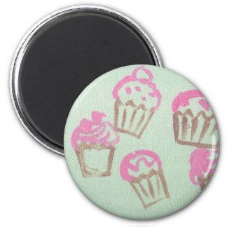 freshky baked 2 inch round magnet