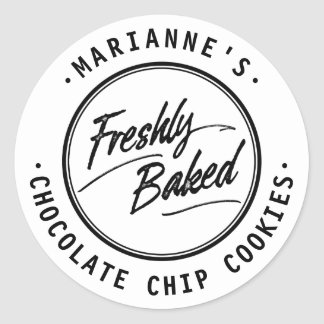Freshly Baked Personalized Label Stickers