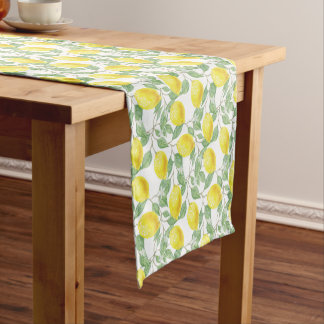 FRESHLY LEMONS SHORT TABLE RUNNER