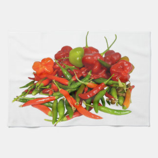 Freshly Picked Chillies Tea Towel