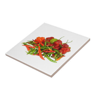 Freshly Picked Chillies Tile