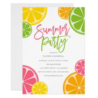 Freshly Squeezed | Summer Party Invitation