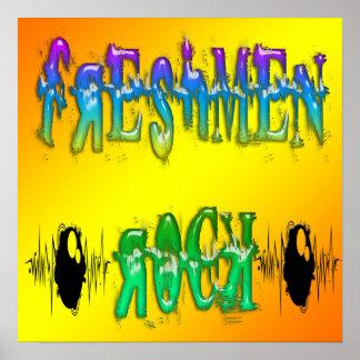 Freshmen Rock - Pulse Poster
