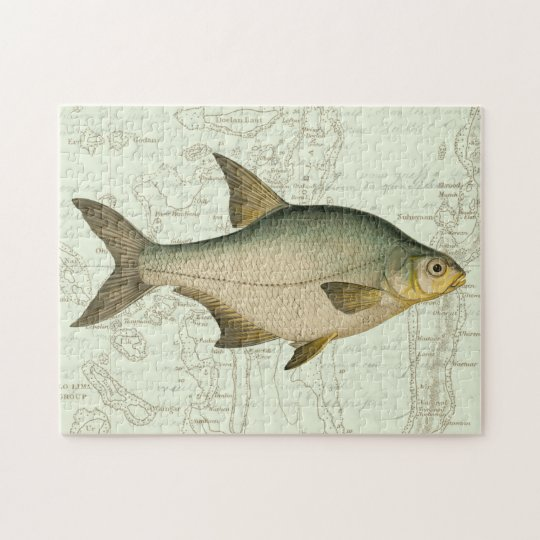 Freshwater Fish on Map Jigsaw Puzzle
