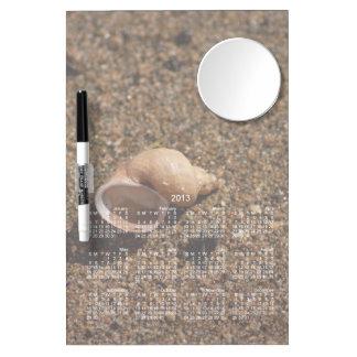 Freshwater Snail Shell; 2013 Calendar Dry-Erase Board