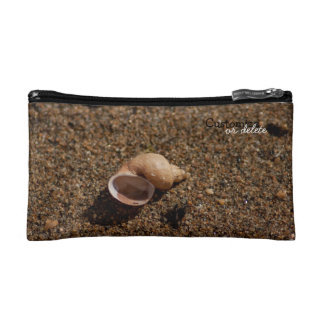 Freshwater Snail Shell; Customizable Cosmetic Bags