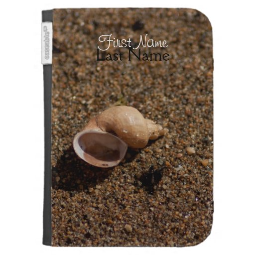 Freshwater Snail Shell; Customizable Kindle Folio Case
