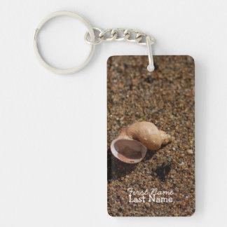 Freshwater Snail Shell; Customizable Single-Sided Rectangular Acrylic Keychain