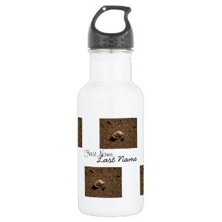 Freshwater Snail Shell; Customizable 18oz Water Bottle