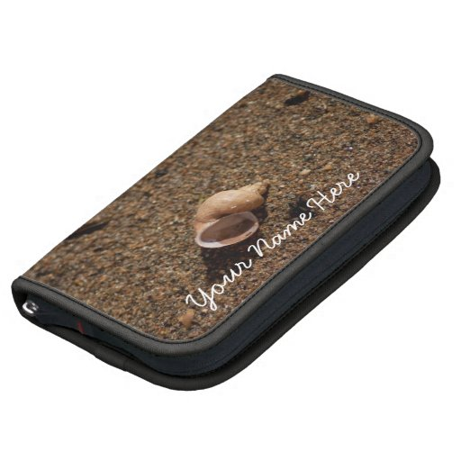 Freshwater Snail Shell; Customizable Folio Planners
