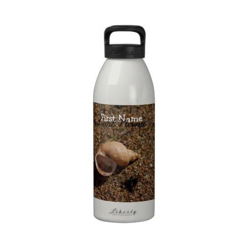 Freshwater Snail Shell; Customizable Water Bottle