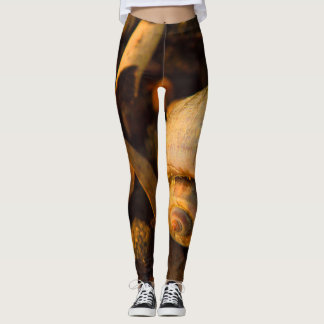 Freshwater Snail Shell Funky Brown 2 Leggings