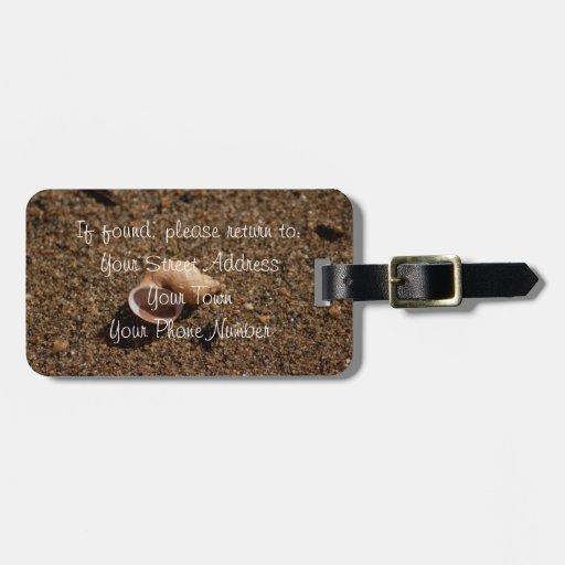 Freshwater Snail Shell Travel Bag Tag