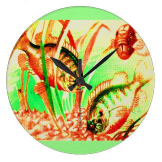 freshwater sunfish large clock