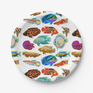 Freshwater Tropical Aquarium Fish Paper Plates