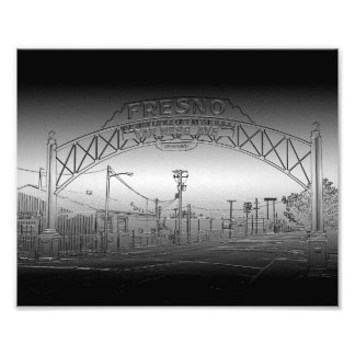 Fresno CA Welcome Arch Photograph