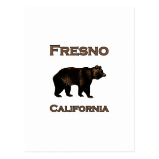 Fresno California Bear Postcard