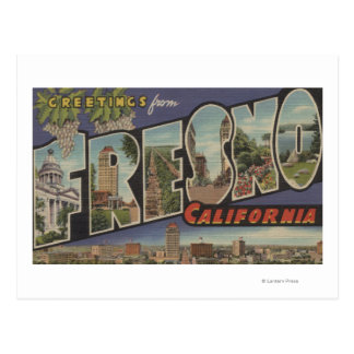 Fresno, California - Large Letter Scenes Postcard