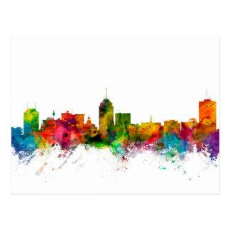 Fresno California Skyline Postcard