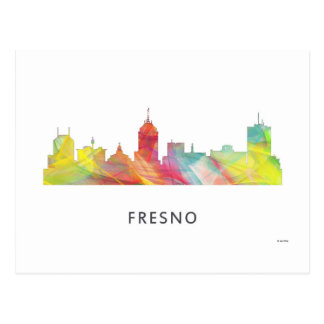FRESNO CALIFORNIA SKYLINE  WB1 - POSTCARD