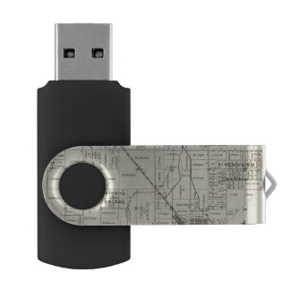 Fresno County, California 12 Swivel USB 2.0 Flash Drive