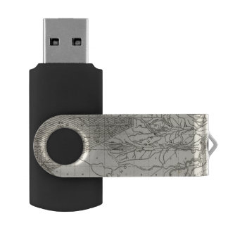 Fresno County, California 19 Swivel USB 2.0 Flash Drive