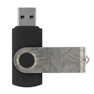 Fresno County, California 9 Swivel USB 2.0 Flash Drive