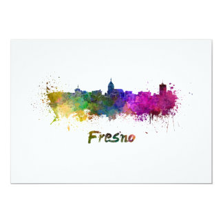 Fresno skyline in watercolor card